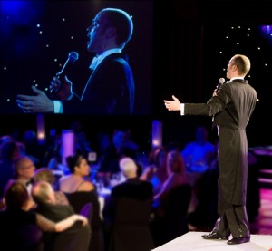 Brydon Stace performs at the Night of Stars in Auckland