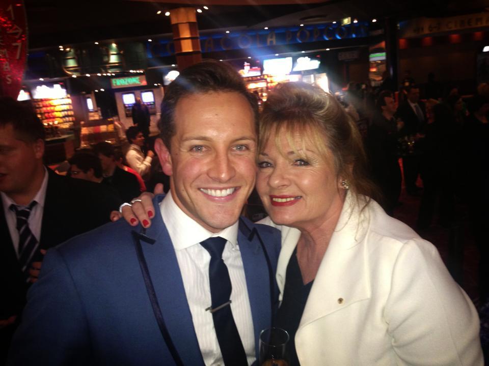 Simon with Paula Duncan